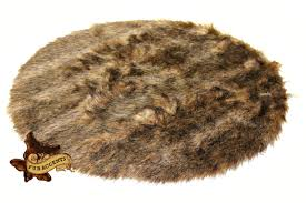 Faux Fur Area Rugs by Round Pelt Accent Rug Silky Soft Faux Fur English Deer