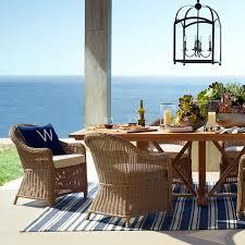 Outdoor Balcony Rugs Riviera Stripe Indoor Outdoor Rug Dress Blue Williams Sonoma