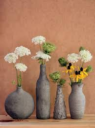 Easy DIY Decor Hand Formed Cement Over Glass Vases