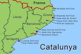 Girona Spain Map by The Catalunya Coast G Golf Ireland