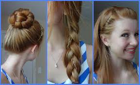 3 simple quick and easy back to hairstyles youtube