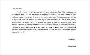thank you letter to veterans template letter idea 2018