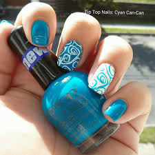 tip top nails cyan can can swatch and review monismani