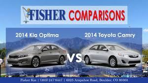 Kia In 2014 Kia Optima Vs 2014 Toyota Camry Vehicle Comparison