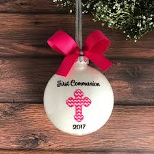 communion christmas ornament personalized communion gift for girl communion