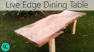 Beech Dining Room Furniture by Massive Live Edge Spalted Beech Dining Table Youtube