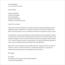 job thank you letters u2013 9 free sample example format download