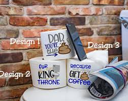 Decorative Toilet Paper Funny Fathers Day Etsy