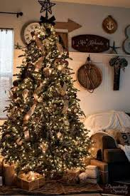 brown christmas tree large christmas tree with burlap garland in white gold silver and