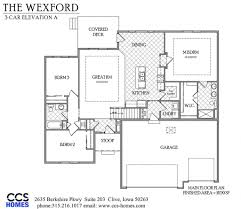 us homes floor plans the wexford ranch floor plan ccs homes des moines iowa