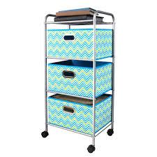 box cart storage bins drawer storage cart blue green chevron 3 pastel box