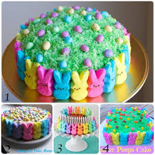 Easter Cake Decorating With Peeps by 20 Easter Cakes Ideas