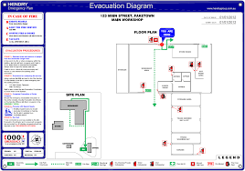 bfsr evacuation signs evaucation diagrams emergency plan hendry