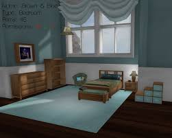 Blue And Brown Bedroom Set Second Life Marketplace Tiny Spaces Brown U0026 Blue Bedroom Set