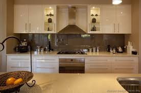 Kitchen Idea Of The Day Modern CreamColored Kitchen With Back - Kitchen glass cabinets
