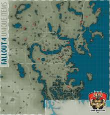 Fallout 2 Map by Fallout 4 Unique Items Map