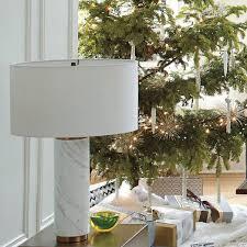 pillar table lamp marble west elm