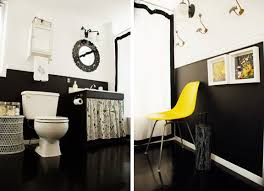 Bathroom Wall Decorating Ideas Black And White Bathroom Wall Décor Lighting Modern Black And