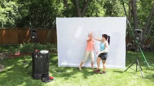 backyard theater system image on stunning outdoor projector screen