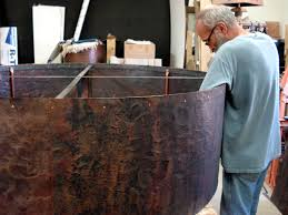 Leather Chandelier Copper Chandelier Complete Mike Dumas Copper Designs Blog