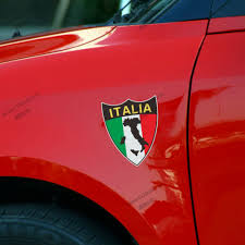 Italy Flag Images 10cm High Reflective Shield Italy Italian Flag Map Car Decal