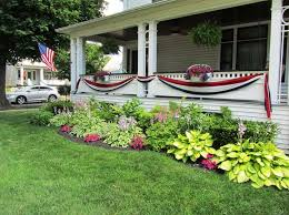 simple front yard landscaping with flowers for ranch style homes