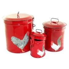Red Kitchen Canisters - 28 best red kitchen canister sets images on pinterest kitchen