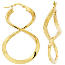 creoles or torsades large 18 carats gold hoop earrings poemana