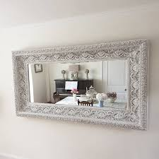 carved white u0027shabby chic u0027 mirror by decorative mirrors online