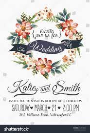 Wedding Invitation Card With Photo Wedding Invitation Card Romantic Flower Templates Stock Vector