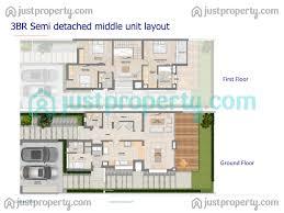 mudon arabella townhouses floor plans justproperty com