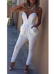 all white jumpsuits jumpsuit all white sleeveless flared pockets