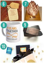 8th anniversary gift ideas anniversary gifts by year
