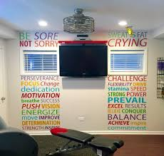 home gym home gym layout ideas gym wall decal http amzn to