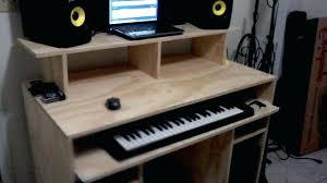 Diy Recording Desk Home Recording Desk Desk Top Home Studio Desk Design Intended For