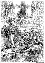 engraving albrecht durer the woman of apocalyps around 1497