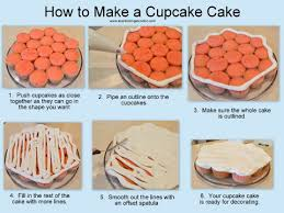 cake how to how to make a cupcake cake stop lookin get cookin