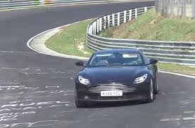 aston martin db11 spied testing possible amg sourced turbo v 8 in