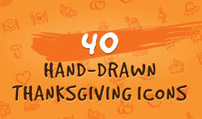 40 thanksgiving icons by goods