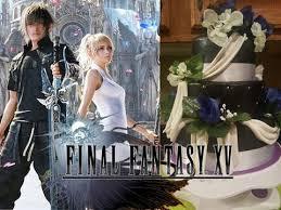 final fantasy xv noctis and luna u0027s wedding cake youtube