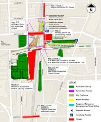 Map Of Downtown Chicago New Closures In Joliet Start Thursday As Railroad Bridge Work