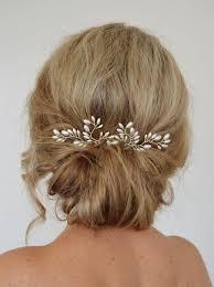 bridal hair pins deco wedding hair accessories fern leaf by roslynharrisdesigns