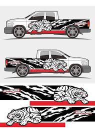 angry roaring tribal tiger graphics decal designs for truck and