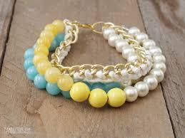diy bead chain bracelet images Diy anthro inspired lime blossom bracelet jpg