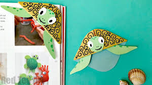 easy turtle bookmark corner red ted art u0027s blog