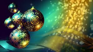 Christmas Decorations Blue And Gold by Christmas Background Loop Rotating Christmas Decorations And