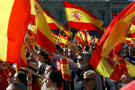 pictured celebrations and protests as catalonia declares