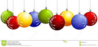 hanging christmas bulbs clipart collection
