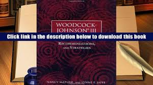 ebook online woodcock johnson iii reports recommendations and
