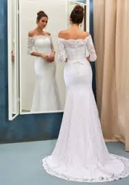 column wedding dresses half sleeves dress lace simple sweep the shoulder